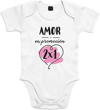 SUPERMOLON Body bebé algodón Amor en promoción 2x1 3 meses Blanco ...