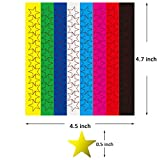 Youngever 3840 Color Foil Star Stickers, Assorted