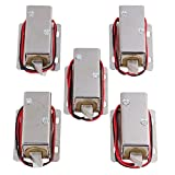 Yibuy 5 x TFS-A22 Luggage Door Electric Assembly Solenoid Lock Tongue Right 24V