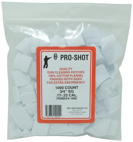 Pro-Shot .17-22 Caliber 3/4-Inch SQ. 1000 Count Patches Rimf