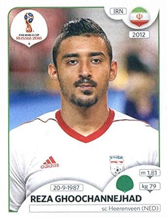 2018 panini world cup stickers russia 190 reza ghoochannejhad iran soccer sticker