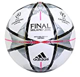 Adidas Performance Finale Milano Capitano Soccer Ball, White/Black/Silver Metallic, 5