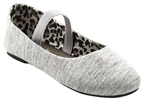 Slip Ballet Flats Simply Girl's Grey On Petals Jersey EYOxXYw