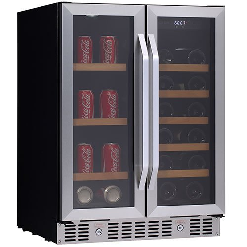 24 Inch Built-In Wine and Beverage Cooler with Fre
