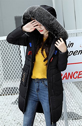 Down Winter Coat Parka Black Long Ladies Jacket Slimming Bigood Women Hooded Thick 6xZqHZR