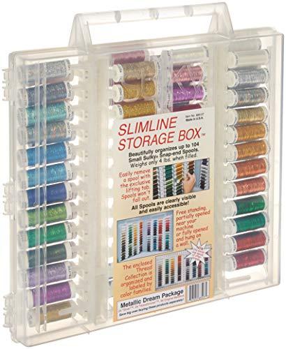 (Sulky Metallics Slimline Dream Assortment Storage Box, Metallic)