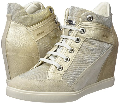 Collo Donna Sneaker lt lead Taupe Beige D A Geox C Eleni Alto XwTqZtR