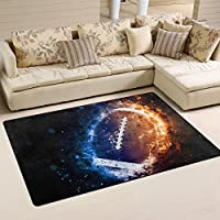 Naanle Sport Area Rug 3x5, American Football Polyester Area Rug Mat for Living Dining Dorm Room Bedroom Home Decorative