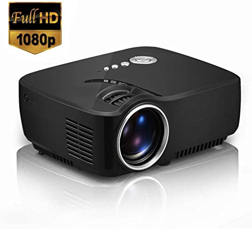 Lvreby Mini proyector portátil, Soporte Full HD Video Home Cinema ...