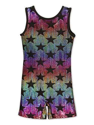 Leap Gear Gymnastics Biketard/Unitard - Star Bright - C X-Small ()