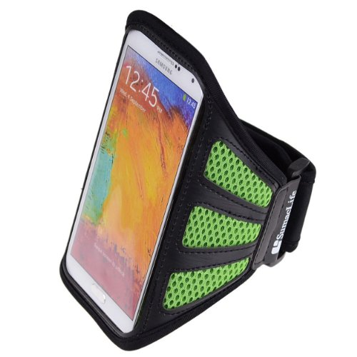 SumacLife Mesh Workout Armband for BlackBerry Classic / Z10 / Z30, Green