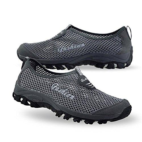 Eagsouni® Unisex-adulto Malla transpirable zapatillas/Zapatillas De Deporte/Zapatos del ocio/Peso ligero Running zapatillas verano Gris