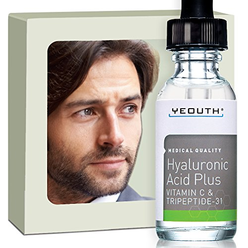 Price comparison product image Men's Best Anti Aging Vitamin C Serum with Hyaluronic Acid & Tripeptide. Maximum Percentage Vitamin-C Topical Vit C Can Make Your Face Look Ten Years Younger! 100%