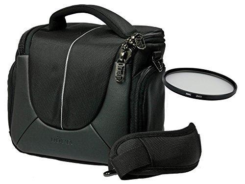 Foto Kamera Tasche YUMA BLACK M mit UV Filter 55mm für Sony Alpha 7 R II B mit Objektiv SEL 28-70mm KB und 6300 6000 5100 5000