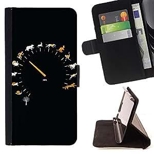 Dragon Case- Mappen-Kasten-Prima caja de la PU billetera de cuero con ranuras para tarjetas, efectivo Compartimiento desmontable y correa para la mu?eca FOR HTC One M7- Retro Clock cartoon