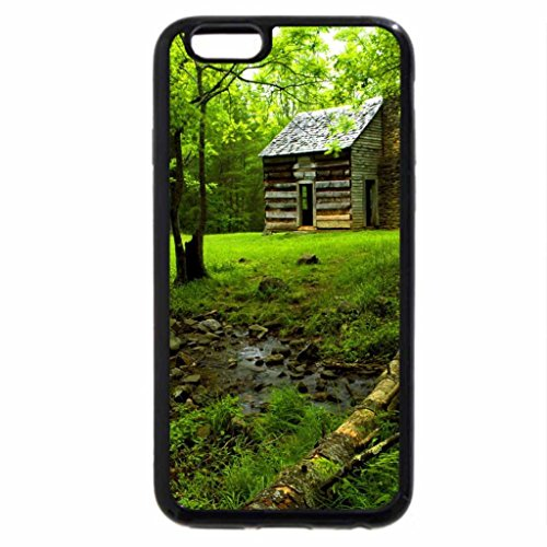 iPhone 6S / iPhone 6 Case (Black) Wooden house