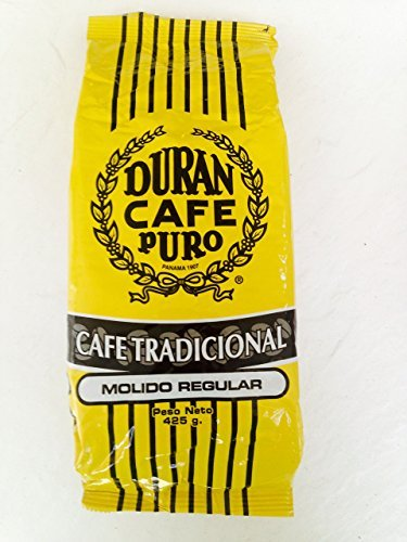 Cafe Duran Cafe Tradicional Best Panama Coffee Regular Ground 1 Pound Freshly Imported. Coffee From the Highlands of Chiriqui (Boquete)