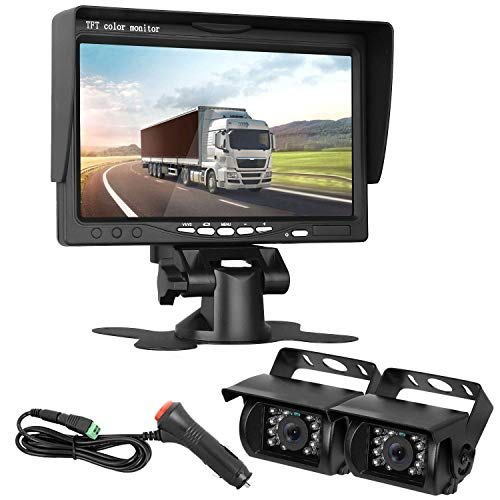 HD 720P Dual Backup Cameras and 7