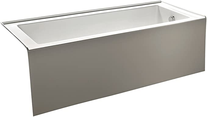 Kingston Brass Vtde603122r 60 Inch Contemporary Alcove Acrylic Bathtub With Right Hand Drain And Overflow Holes White Amazon Com