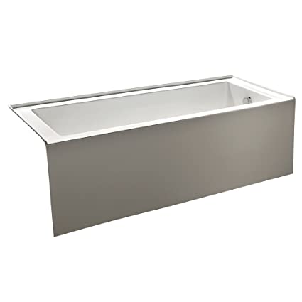 KINGSTON BRASS VTDE603122R 60 Inch Contemporary Alcove Acrylic Bathtub With Right  Hand Drain And Overflow