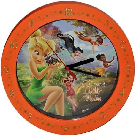 alles-meine.de GmbH Wanduhr / Standuhr - Disney Fairies Tinkerbell 25,5 cm groß Uhr Kinderzimmer Kinderuhr Deko analog Fairy Feen