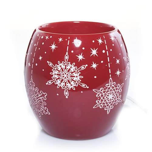 Yankee Candle Crimson Flurries with Timer Scenterpiece Easy MeltCup Warmer