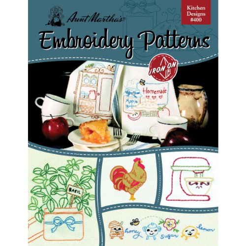Price comparison product image Aunt Martha's Kitchen Designs Embroidery Transfer Pattern Book, Over 25 Iron On Patterns