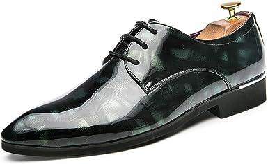 GBY Moda Masculina Oxford Casual C/ómodos y Suaves Caballeros Estilo brit/ánico con Cordones Zapatos Formales Zapatos de Vestir