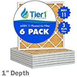 16x16x1 Ultra Allergen Merv 11 Pleated Replacement AC Furnace Air Filter (6 Pack)