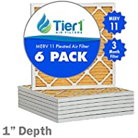 10x18x1 Ultra Allergen Merv 11 Pleated Replacement AC Furnace Air Filter (6 Pack)