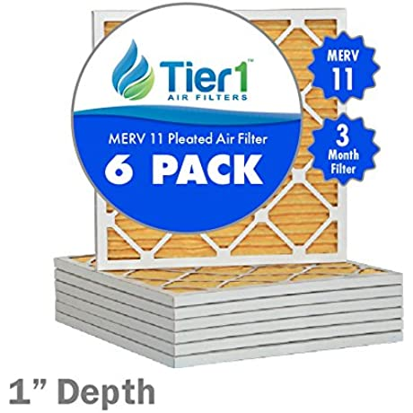 12x36x1 Ultra Allergen Merv 11 Pleated Replacement AC Furnace Air Filter 6 Pack