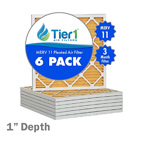 13x21-1/2x1 Ultra Allergen Merv 11 Pleated Replacement AC Furnace Air Filter (6 Pack)