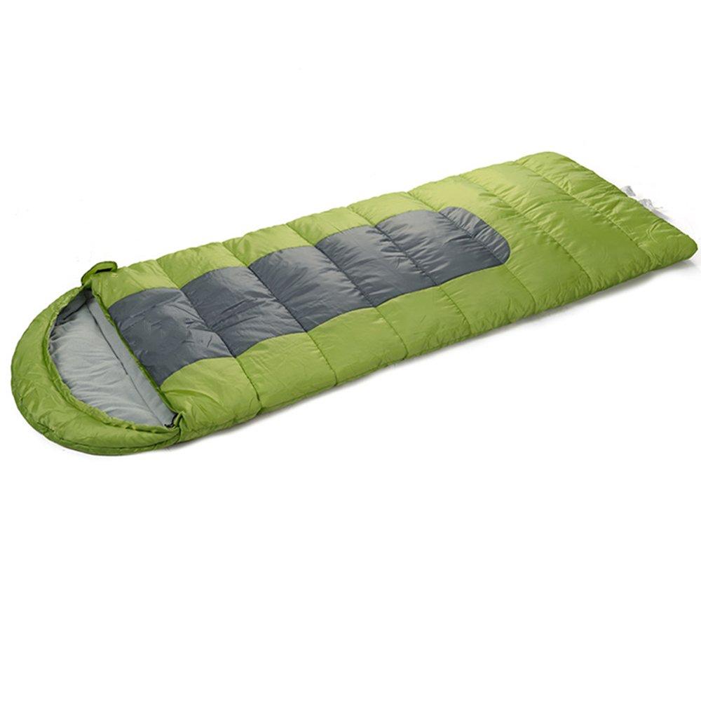 LJHA shuidai 寝袋アダルトアウトドア冬キャンプ寝袋フォーシーズン厚手の暖かい防水寝袋寝袋は縫うことができます (色 : Green, サイズ さいず : 230 * 90CM) B07FMKNDX7 230*90CM|Green Green 230*90CM