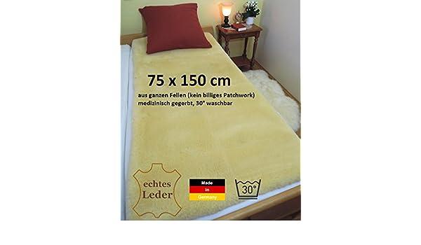 75 x 150 cm, Deutsche LANABEST Piel D cordero Merino para colchón. Öko-Tex 100, clase 1, D.H para contacto directo cuerpo y apto también para niños.