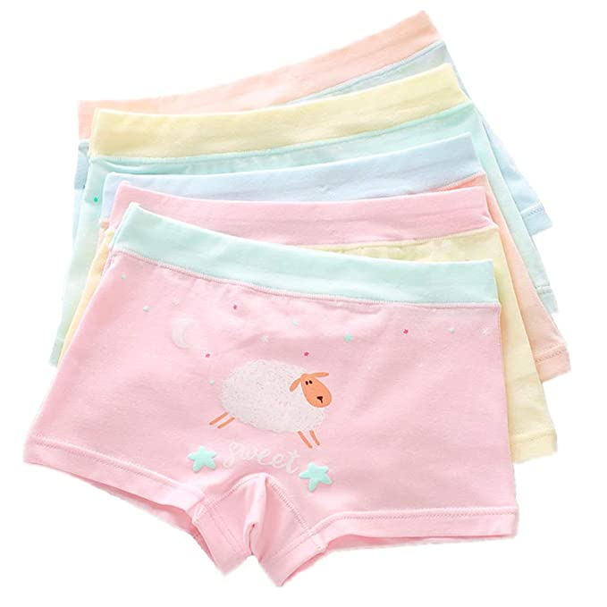 b8e7a99198e3 CzBonjour Girls' Boyshort Toddler Briefs Cotton Underwear 5pk Panties (1-2  Years,