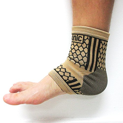 2 Ankle Support Brace Elastic Compression Wrap Sleeve Sports Relief Pain Foot M