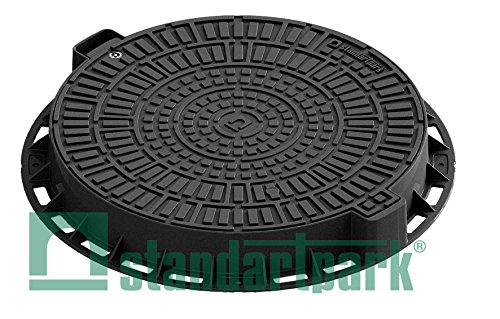 Standartpark Plastic Manhole Cover with Bolted Down Removable Lid Reinforced Steel for Durability