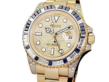 a2e054cd6aa762 Amazon   [ロレックス]Rolex 腕時計 GMTマスター2 サファイヤ・ダイヤベゼル 116758SA Z番 メンズ [中古品]    ROLEX(ロレックス)   腕時計 通販