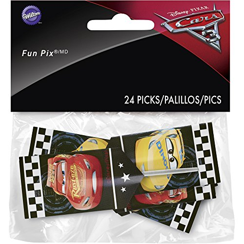 Price comparison product image Wilton 2113-7110 Disney Pixar Cars 3 24 Count 3 Fun Pix,  Assorted