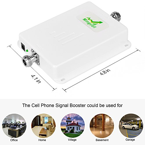 Mingcoll Cellphone Signal Booster 2G 3G 4G LTE T-mobile AT&T Verizon Wireless Network Booster Dual Band Amplifier GSM CDMA 850mhz AWS 1700mhz with Indoor Ceiling Outdoor LDPA Antenna for Home Office by Mingcoll (Image #2)