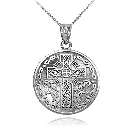 Reversible Irish Blessing Pendant Necklace, 20