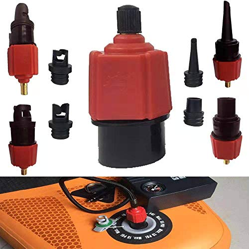 UJIANG Air Valve Adaptor Multifunction Air Pump Valve Adapter Inflatable SUP Schrader Valve Adapter Accessories Air Pump Converter for Valves Kayak Inflatable Boat Raft Foot Pump Electric Pump