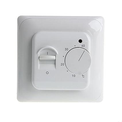 KUNSE Calefacción por Suelo Termostato Aire Acondicionado Interruptor De Control De Temperatura 16A 220V