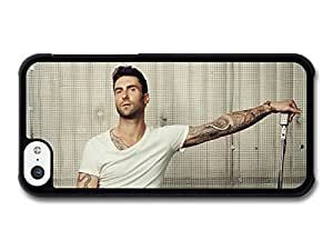 AMAF ? Accessories Adam Levine Maroon 5 Singer with Guitar and Microphone case for iPhone 5C