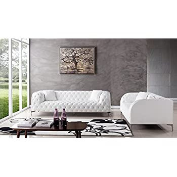 Italian Leather Sectional Sofa Complete Living Room Set