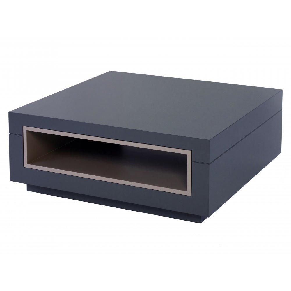 Gillmore Space Graphite Grey and Stone Accent Contemporary Square Coffee Table