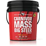 MuscleMeds Carnivor Mass Anabolic Beef Protein Gainer, Big Steer, Chocolate Fudge, 15 Pounds