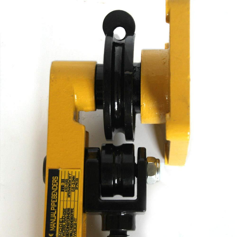 M/áquina manual pesada para doblar tubos 10-25 mm