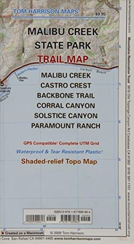Malibu Creek State Park Trail Map (Tom Harrison Maps)