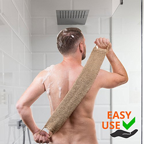Exfoliating-Body-Scrub-Set-For-Men-and-Women-A-New-Generation-Of-Loofah-Back-Scrubber-Made-From-Natural-Hemp-Includes-Comfortable-Hand-Mitt-and-Wall-Hook-Mount